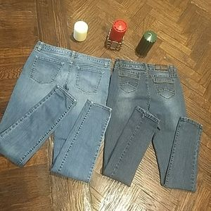 2pc set Merona and jean9 skinny jeans